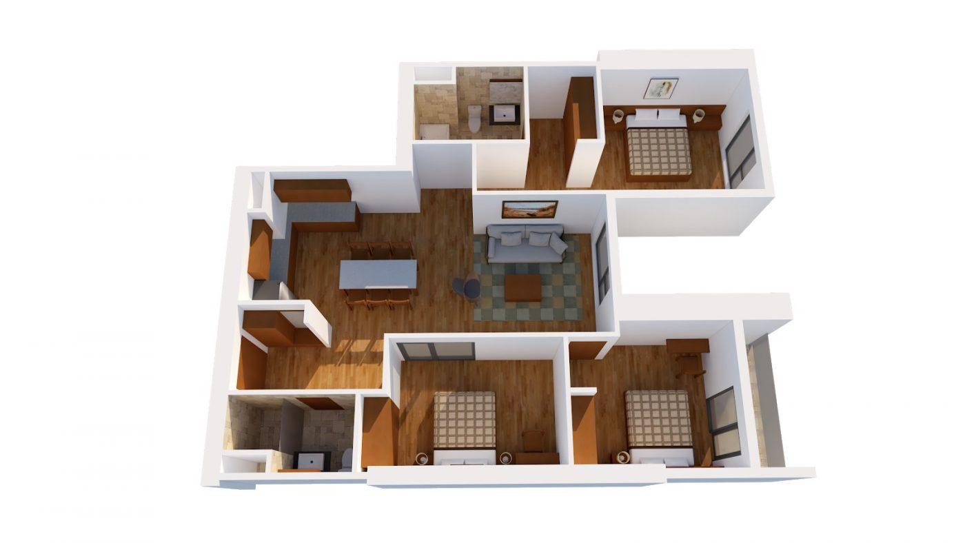 Thiết kế căn I HPC Landmark 105