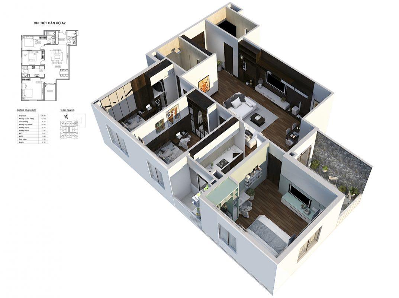 Thiết kế căn A2 112m HPC Landmark 105