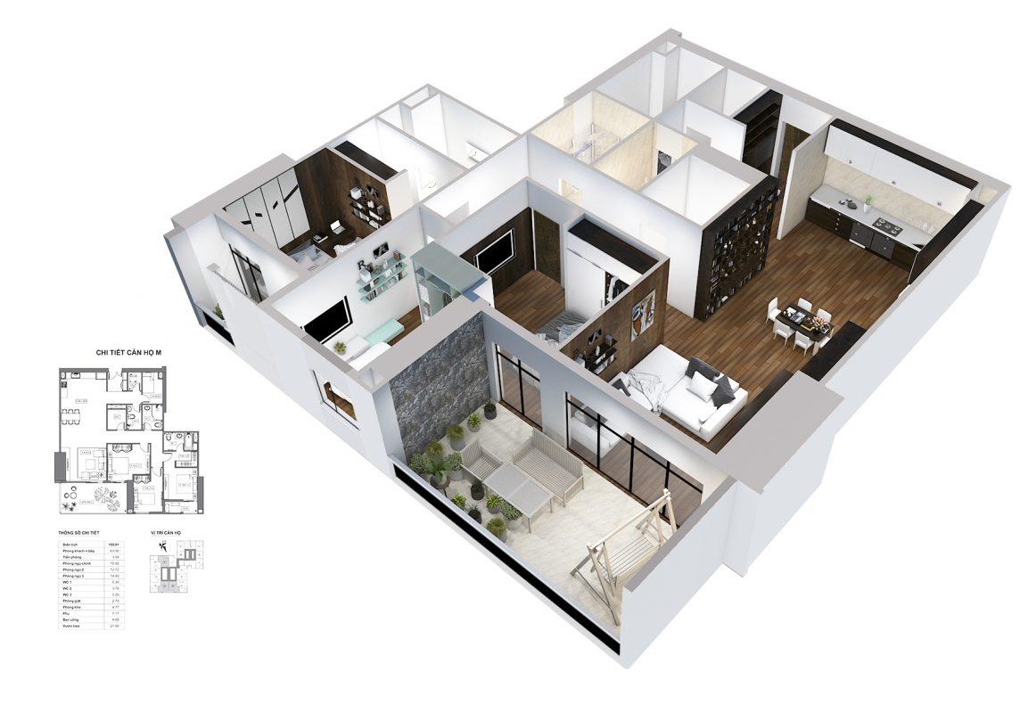 Thiết kế căn M HPC Landmark 105