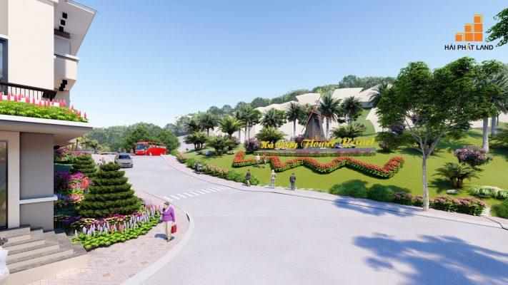 Đường nội khu Hạ Long Flower Resort