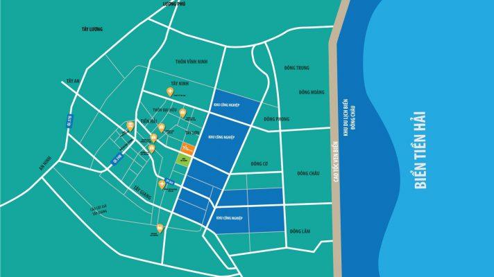 Vị trí dự án Tiền Hải Star City Thái Bình